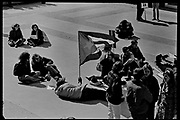Madison, WI - March 1970. On March 15, 1970, the University of Wisconsin - Madison Teaching Assistants' Association voted to strike, and the campus was filled with picket lines as well as demonstrations of related and other issues. The strike lasted until early April, when the Association and University came to an agreement. Protesters with a Cuban flag.