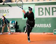 Garbine Muguruza of Spain in action against Kristyna Pliskova of the Czech Republic during the second round at the Roland Garros 2020, Grand Slam tennis tournament, on October 1, 2020 at Roland Garros stadium in Paris, France - Photo Rob Prange / Spain ProSportsImages / DPPI / ProSportsImages / DPPI