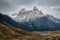 The view from the trail leading into the French Valley of the Cuernos del Paine.