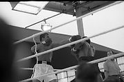 Ali vs Lewis Fight, Croke Park,Dublin.<br /> 1972.<br /> 19.07.1972.<br /> 07.19.1972.<br /> 19th July 1972.<br /> As part of his built up for a World Championship attempt against the current champion, 'Smokin' Joe Frazier,Muhammad Ali fought Al 'Blue' Lewis at Croke Park,Dublin,Ireland. Muhammad Ali won the fight with a TKO when the fight was stopped in the eleventh round.<br /> <br /> A left jab is easily avoided by Lewis.