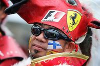 Fans and atmosphere - Ferrari fan.<br /> Japanese Grand Prix, Sunday 5th October 2014. Suzuka, Japan.