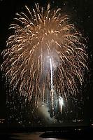 Fireworks Over the Ocean in Aptos Ca.