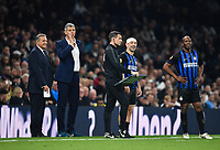 Football - 2018 / 2019 New Tottenham Hotspur Stadium Test Event, Two - Spurs Legends vs. Inter Forever<br /> <br /> Inter Forevers' Giorgios Karagounis (headband) and the managers in good spirits, at Tottenham Hotspur Stadium.<br /> <br /> COLORSPORT/ASHLEY WESTERN