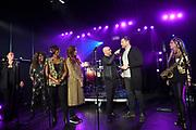 Perslunch van de Ladies of Soul in Club Ziggo te Amsterdam.<br /> <br /> Op de foto:   Trijntje Oosterhuis , Edsilia Rombley , Glennis Grace , Berget Lewis en Candy Dulfer met Tjeerd Oosterhuis