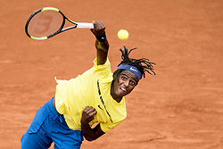 September 15, 2017 - Bastad, Sweden - ELIAS YMER of Sweden in action against J. Tverijonas of Lithuania during their Davis Cup match in Bastad. Ymer won 6:2, 6:3, 6:4. (Credit Image: © Petter Arvidson/Bildbyran via ZUMA Wire)