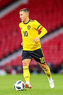 Eden Hazard (#10) of Belgium on the ball during the International Friendly match between Scotland and Belgium at Hampden Park, Glasgow, United Kingdom on 7 September 2018.