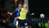 Football - 2016 / 2017 FA Cup - Second Round: Macclesfield Town vs. Oxford United<br /> <br /> Andy Halls of Macclesfield Town and Ryan Taylor of Oxford United during the match at Moss Rose Stadium.<br /> <br /> COLORSPORT/LYNNE CAMERON