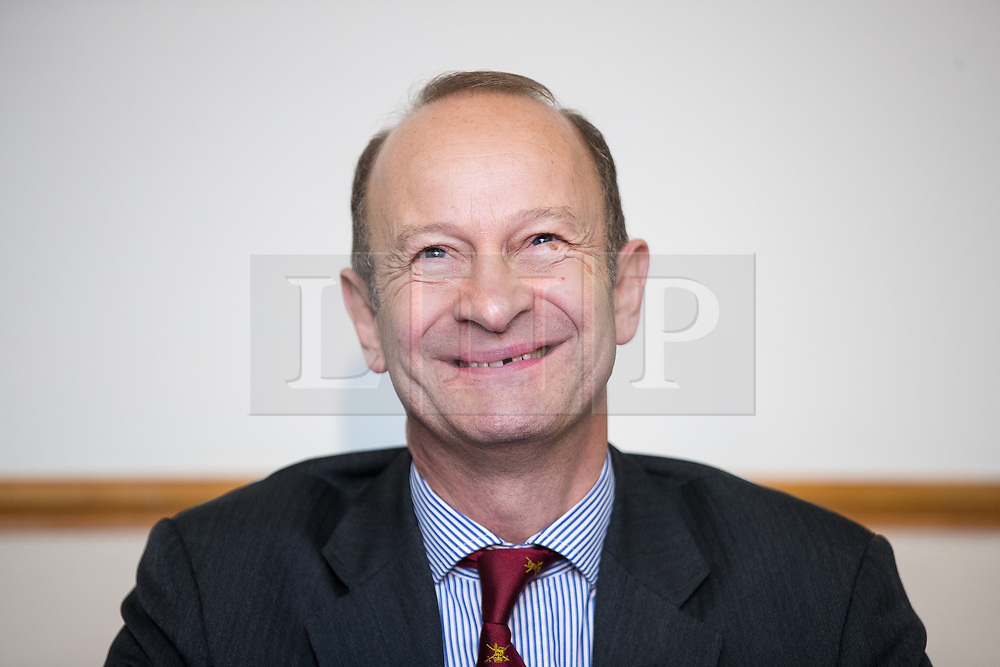 © Licensed to London News Pictures . 29/09/2017 . Torquay , UK . Contest winner HENRY BOLTON (r) at a post-victory press conference . The UK Independence Party Conference at the Riviera International Centre . UKIP is due to announce the winner of a leadership election which has the potential to split the party . Photo credit: Joel Goodman/LNP