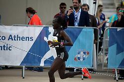 November 12, 2017 - Athens, Attica, Greece - Alice Jepkemboi from Kenya wins the second place on women race at the 35th Athens Classic Marathon in Athens, Greece, November 12, 2017. (Credit Image: © Giorgos Georgiou/NurPhoto via ZUMA Press)