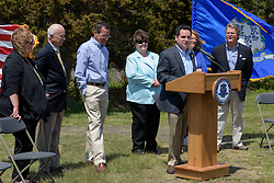 Connecticut DEEP Commissioner Rob Klee speaking at the Groundbreaking Ceremony for the New Meigs Point Nature Center at Hammonasset Beach State Park.