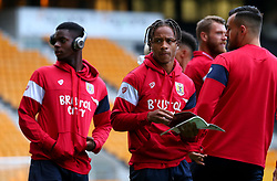 Bobby Reid of Bristol City and teammates arrive at Molineux for the Sky Bet Championship fixture with Wolverhampton Wanderers - Mandatory by-line: Robbie Stephenson/JMP - 12/09/2017 - FOOTBALL - Molineux - Wolverhampton, England - Wolverhampton Wanderers v Bristol City - Sky Bet Championship