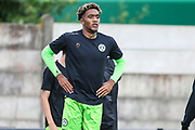 Isiaih Jones during the Pre-Season Friendly match between Cirencester Academy and Forest Green Rovers at Cotswold Academy, Cirencester, United Kingdom on 30 July 2019.