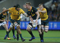 September 9, 2017 - Perth, Australia - South Africa's Pieter - Step du Toit looks to pass the ball during their match against Australia in the Rugby Championship played in Perth, Australia. (Credit Image: © Theron Kirkman via ZUMA Wire)