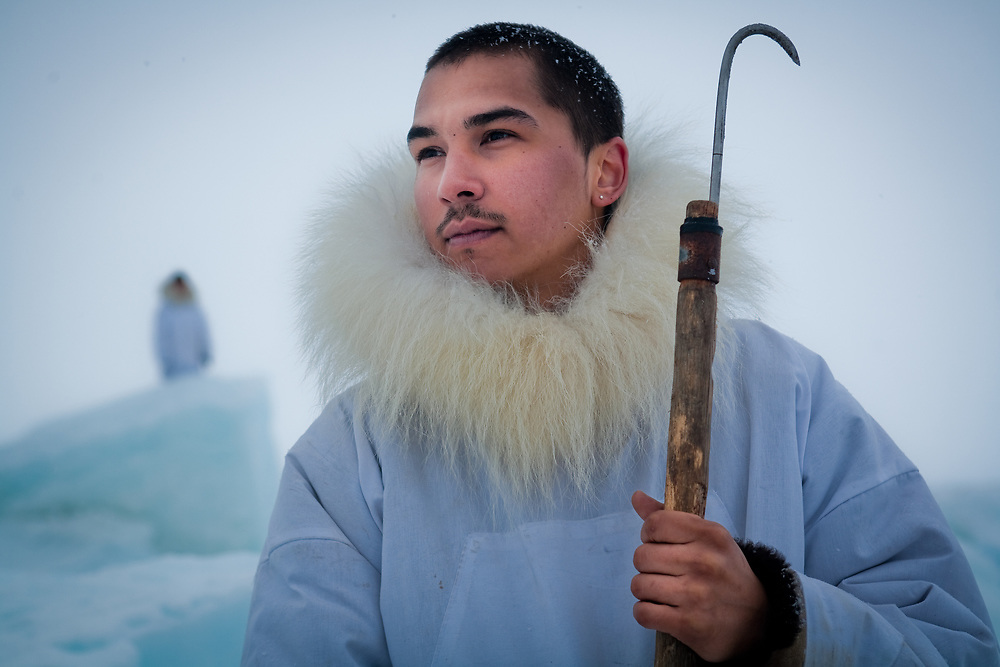 Young Iñupiaq hunter , Point Hope, Alaska