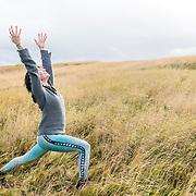 Yogini Jenn Falk on location at Budir on the Snaefellsnes Peninsula, Iceland