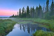 Swanson Creek at dawn<br />Riding Mountain National Park<br />Manitoba<br />Canada