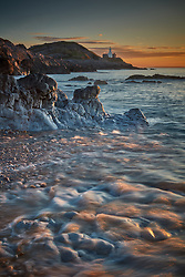 Bracelet Bay at sunrise. Mumbles, South Wales