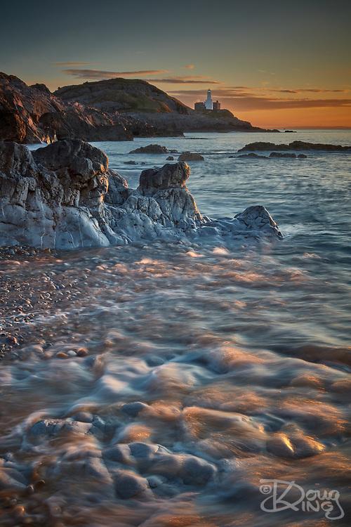 Bracelet Bay at sunrise. Mumbles, South Wales