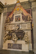 Tomb of Michelangelo Buonarroti in the Basilica of Santa Croce