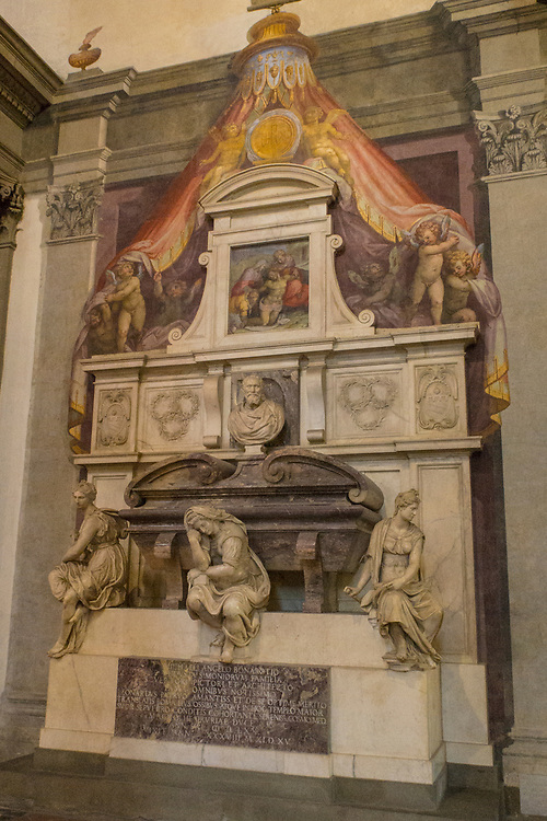Tomb of Michelangelo Buonarroti in the Basilica of Santa Croce