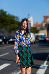 Street style, Irene Kim arriving at Coach Spring Summer 2017 show held at Pier 76, in New York City, NY, USA, on September 13, 2016. Photo by Marie-Paola Bertrand-Hillion/ABACAPRESS.COM