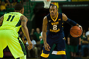 WACO, TX - MARCH 5: Jevon Carter #2 of the West Virginia Mountaineers brings the ball up court against the Baylor Bears on March 5, 2016 at the Ferrell Center in Waco, Texas.  (Photo by Cooper Neill/Getty Images) *** Local Caption *** Jevon Carter
