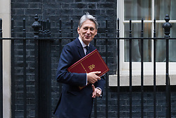 Downing Street, London, October 18th 2016. Chancellor of the Exchequer Philip Hammond arrives at the weekly cabinet meeting at 10 Downing Street in London.