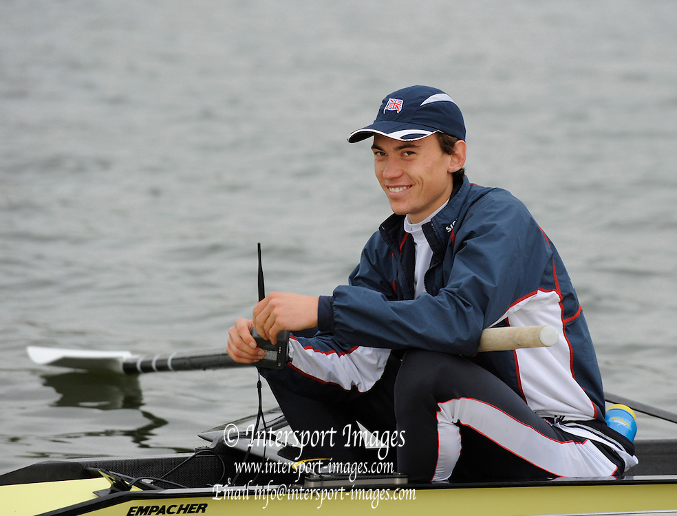 Caversham, Great Britain, James CLARKE, GB Rowing media day at the Redgrave Pinsent Rowing Lake. GB Rowing Training centre. Wed. 20.04.2008  [Mandatory Credit. Peter Spurrier/Intersport Images] Rowing course: GB Rowing Training Complex, Redgrave Pinsent Lake, Caversham, Reading