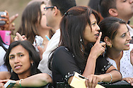 Spectators and autograph hunters watching stars arriving at the International Indian Film Academy Awards (IIFA) ceremony at the Hallam Arena in Sheffield for the annual IIFA awards. The awards were known as the 'Bollywood Oscars' and ran from 7-10th June. They were watched by an estimated global television audience 500 million people.