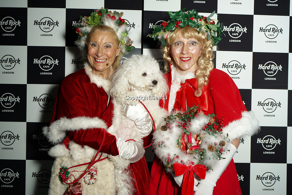 Hard Rock Cafe London, England, UK. 4th Dec 2017. Miss Christmas,Mistletoe,snowflake Arrivals at Fight For Life Charity Event of Christmas festivities and entertainment for children with cancer.