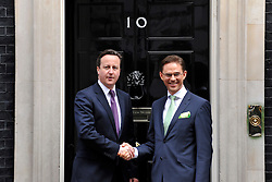 © Licensed to London News Pictures. 30/03/2012. London, UK.s Prime Minister David Cameron welcome Finnish Prime Minister Katainen to 10 Downing Street today 30/03/12. Photo credit : Stephen SImpson/LNP