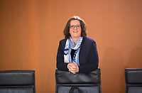 DEU, Deutschland, Germany, Berlin, 06.02.2019: Kerstin Griese (SPD), Parlamentarische Staatssekretärin beim Bundesminister für Arbeit und Soziales, vor Beginn der 40. Kabinettsitzung im Bundeskanzleramt.