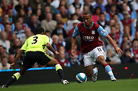 Photo: Rich Eaton.<br /> <br /> Aston Villa v Chelsea. The FA Barclays Premiership. 02/09/2007. Aston Villa's Gabriel Agbonlahor (r) takes on Chelsea's Ashley Cole (l).