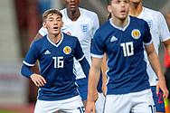 Billy Gilmore (#16) of Scotland U21s (Chelsea FC) during the U21 UEFA EUROPEAN CHAMPIONSHIPS match between Scotland and England at Tynecastle Stadium, Edinburgh, Scotland on 16 October 2018.
