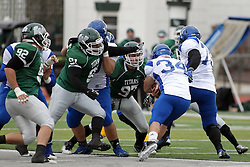 15 November 2014:  Will James during an NCAA division 3 football game between the North Park Vikingsand the Illinois Wesleyan Titans in Tucci Stadium on Wilder Field, Bloomington IL