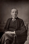 John Morley, first Viscount Morley (1838-1923) English radical politician, statesman, philosopher, journalist and writer.   From 'The Cabinet Portrait Gallery' (London, 1890-1894).  Woodburytype after photograph by W & D Downey.