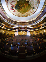 CIENFUEGOS, CUBA - CIRCA JANUARY 2020: Interior of Tomas Terry Theater and Auditorium in Cienfuegos