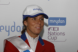 Simpson Nicole (USA)<br /> Press conference Meydan FEI Nationscup<br /> CHIO Rotterdam 2010<br /> © Dirk Caremans