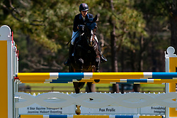 March 22, 2019 - Raeford, North Carolina, US - March 22, 2019 - Raeford, N.C., USA - HALLIE COON of the United States riding CELIEN competes in the show jumping CCI-4S division at the sixth annual Cloud 11-Gavilan North LLC Carolina International CCI and Horse Trial, at Carolina Horse Park. The Carolina International CCI and Horse Trial is one of North AmericaÃ•s premier eventing competitions for national and international eventing combinations, hosting International competition at the CCI2*-S through CCI4*-S levels and National levels of Training through Advanced. (Credit Image: © Timothy L. Hale/ZUMA Wire)
