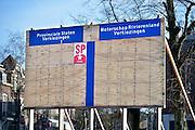 Nederland, Nijmegen, 3-2-2015Verkiezingsbord met affiches voor de komende verkiezingen voor de provinciale staten en het waterschap rivierenland .Netherlands, election board with posters for the forthcoming elections.Foto: Flip Franssen/Hollandse Hoogte