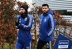 Argentina's Lionel Messi and Sergio Aguero  - Mandatory by-line: Matt McNulty/JMP - 21/03/2018 - FOOTBALL - Argentina - Training session ahead of international against Italy
