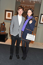 PAD London 2012 held in Berkeley Square, London on 10th October 2012.<br /> Picture shows:- SOPHIE ELLIS-BEXTOR and RICHARD JONES.