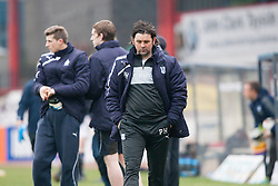 Hartley at the end.<br /> Dundee 0 v 1 Falkirk, Scottish Championship game played today at Dundee's Dens Park.<br /> © Michael Schofield.