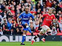 Football - 2021 / 2022 Pre-Season Friendly - Manchester United vs Everton - Old Trafford - Saturday 7th August 2021<br /> <br /> Fabian Delph of Everton and Andreas Pereira of Manchester United, at Old Trafford.<br /> <br /> COLORSPORT/ALAN MARTIN