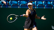 Bianca Andreescu of Canada in action against Anett Kontaveit of Estonia during her second-round match at the 2021 Viking International WTA 500 tennis tournament on June 23, 2021 at Devonshire Park Tennis in Eastbourne, England - Photo Rob Prange / Spain ProSportsImages / DPPI / ProSportsImages / DPPI