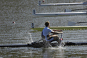 Seville. SPAIN, 18.02.2007, GBR M1X Matt WELLS, approaching the line  in Sundays final, at the FISA Team Cup, held on the River Guadalquiver course. [Photo Peter Spurrier/Intersport Images]    [Mandatory Credit, Peter Spurier/ Intersport Images]. , Rowing Course: Rio Guadalquiver Rowing Course, Seville, SPAIN,