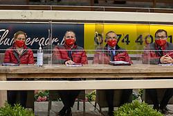 Meurens Inge, Heylen Tom, Goyvaerts Jef, De Waele Jean Pierre, BEL<br /> BWP Hengstenkeuring 2021<br /> © Hippo Foto - Dirk Caremans<br />  11/01/2021