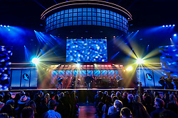 October 16, 2018 - Nashville, TN, U.S. - NASHVILLE, TN - OCTOBER 16: Big Daddy Weave performs during the 49th Annual Dove Awards on October 16, 2018, at Allen Arena in Nashville, TN. (Photo by Jamie Gilliam/Icon Sportswire) (Credit Image: © Jamie Gilliam/Icon SMI via ZUMA Press)