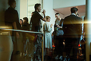 PABLO BRONSTEIN, Dancer, Pablo Bronstein, Sketches for Regency Living. Private view. ICA. The Mall. London. 8 June 2011. <br /> <br />  , -DO NOT ARCHIVE-© Copyright Photograph by Dafydd Jones. 248 Clapham Rd. London SW9 0PZ. Tel 0207 820 0771. www.dafjones.com.