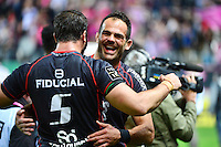 Joie Toulouse - Gregory LAMBOLEY / Yoann MAESTRI - 24.04.2015 - Stade Francais / Stade Toulousain - 23eme journee de Top 14<br />